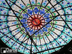 گنبد شیشه ای مسجد رشت