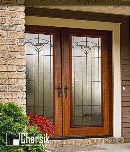 شیشه دکوراتیو درب های ورودی و لابی (1)